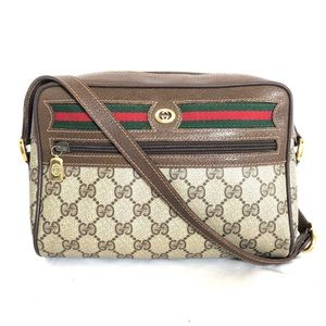 GUCCI VINTAGE GG SUPREM SMALL CAMARA SHOULDER BAG